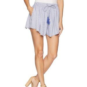 BB Dakota striped drawstring tassel shorts